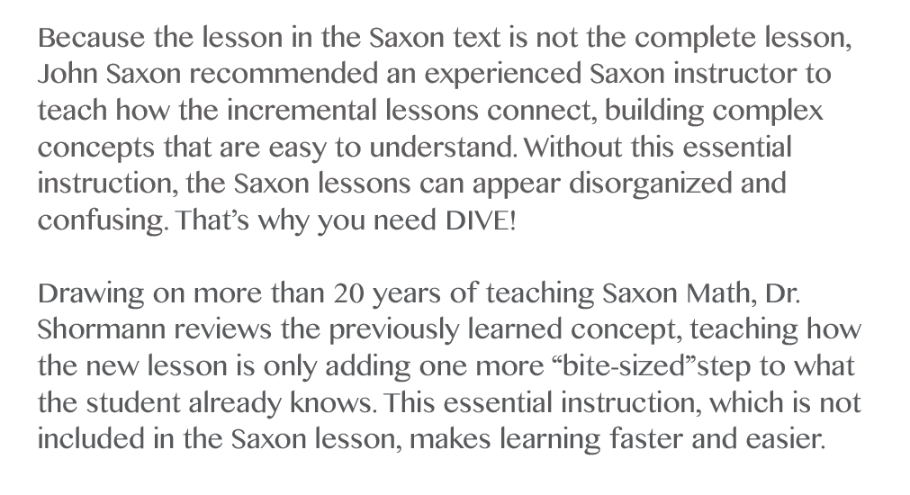 Saxon Math Homeschool - Buy Math 8/7 (Pre-Algebra) | DIVE ...
