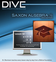 DIVE Stream & Download: Video Lectures for Saxon Algebra 1/2, 3rd Edition