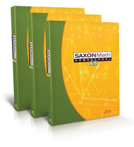 Saxon 6/5, Third Edition Complete Homeschool Kit with Solutions Manual.