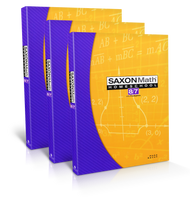 Saxon 8/7 with Pre-Algebra, Third Edition Complete Homeschool Kit with Solutions Manual.