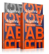 Saxon Algebra 1, Third Edition Complete Homeschool Kit with Solutions Manual.