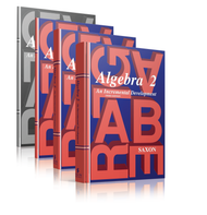 Saxon Algebra 2, Third Edition Complete Homeschool Kit with Solutions Manual.