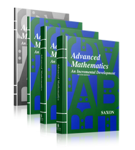 Saxon Advanced Math, Second Edition Complete Homeschool Kit with Solutions Manual.