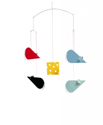 Cheese Mice Mobile by Flensted