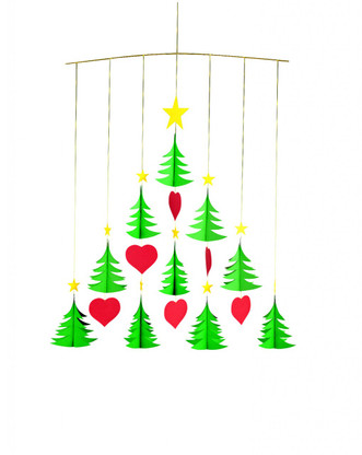 Christmas Tree 10 Mobile by Flensted