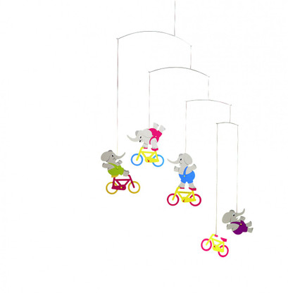 Cyclephants Mobile by Flensted