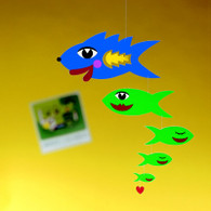 Kiss Fish Mobile by Flensted