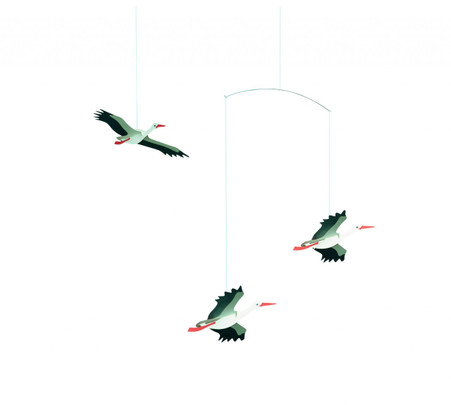 Lucky Storks Mobile by Flensted