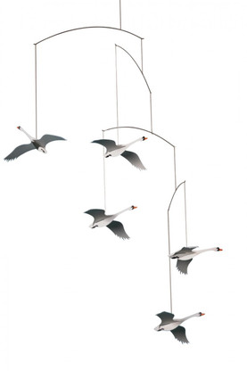 Scandinavian Swans Mobile by Flensted