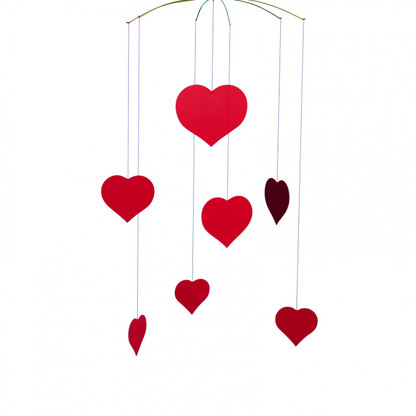 Happy Hearts Valentine Mobile