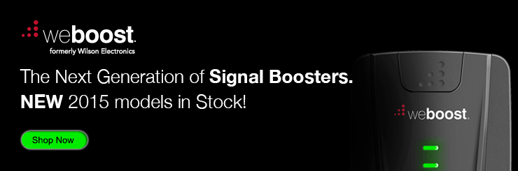 weBoost cell phone signal boosters, new 2015 models in stock