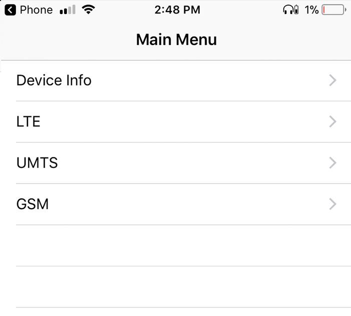 How to access db cell signal on iPhone