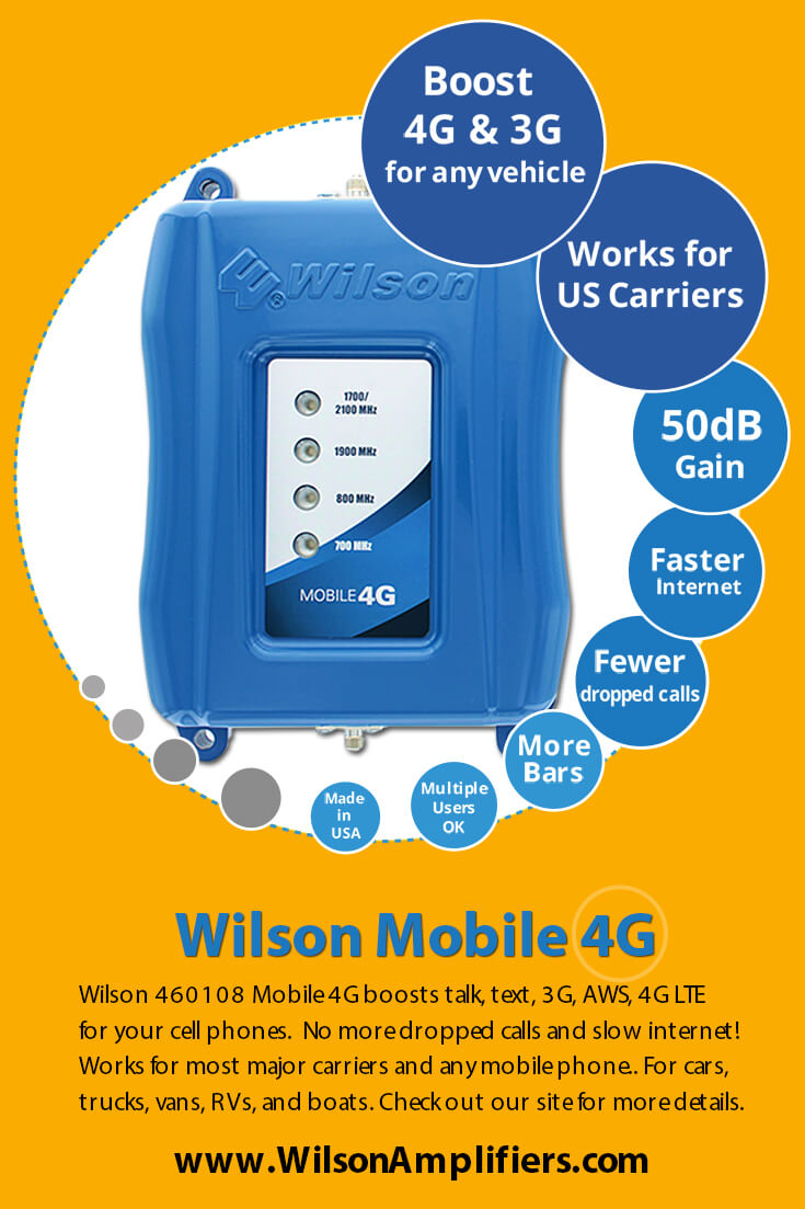 Wilson 460108 Mobile 4G Cell Phone Signal Booster Infographic