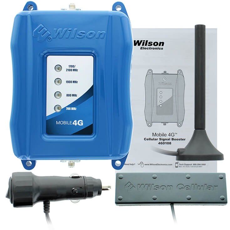 Wilson 460108 Mobile 4G Cell Phone Signal Booster - Full Kit