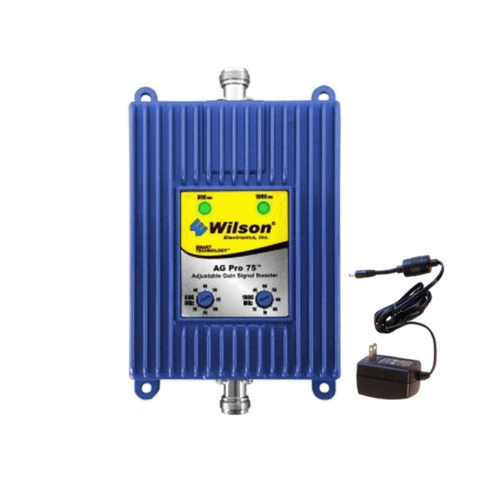 801280 Wilson AG Pro 75 Adjustable Gain 75dB Amplifier Dual Band, main