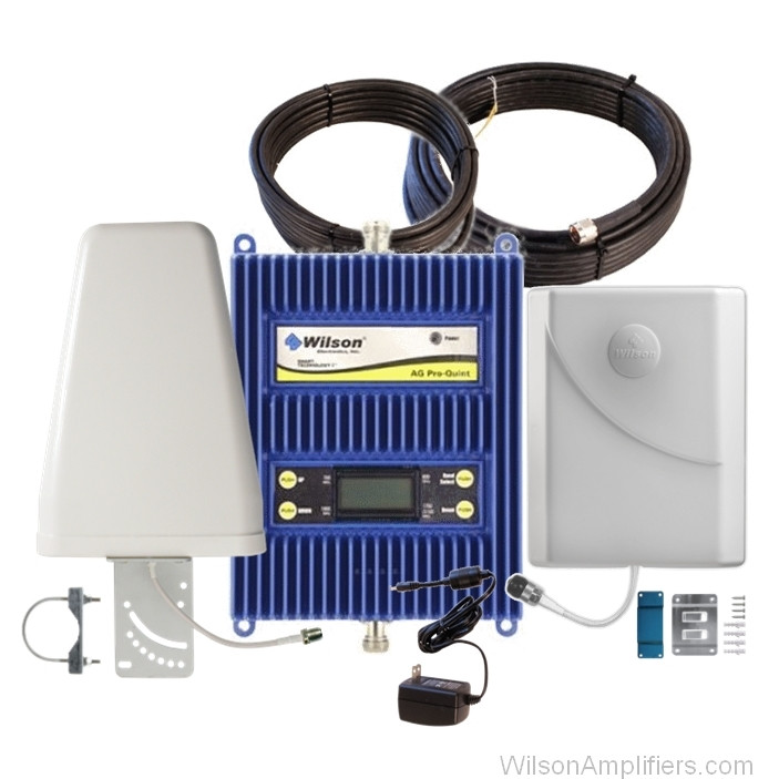 Wilson 803470-BL1 AG Pro Quint Selectable 4G (All Carriers) +75dB Building Signal Booster Kit, main
