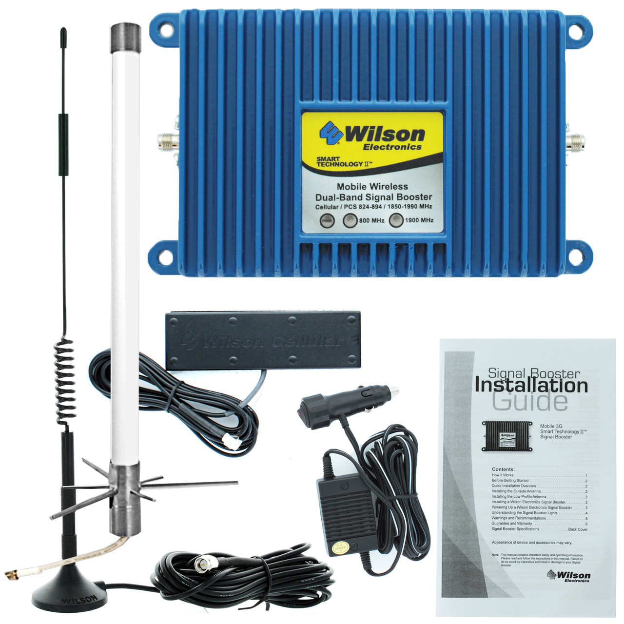 Wilson Mobile 3G +50dB Amplifier Kit w/ Marine Antenna (308430) - 460102-M - Complete Kit