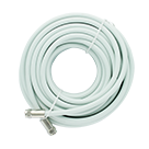 30' + 15' White Low Loss RG6 Coax Cables