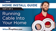 running cables into your home