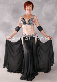 MIDNIGHT BLOOM Egyptian Costue - Black, Silver, Teal and Red