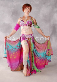 MEDITERRANEAN GARDENS Egyptian Beaded Costume - Multi-color and Silver