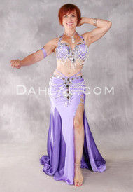 JEWELED OPULENCE Egyptian Costume, Lavender, White and Silver