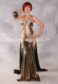 GOLDEN GLAMOUR Egyptian Dress - Gold, White and Nude