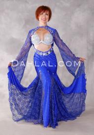 AKILA Iraqi Two Way Dress - Royal Blue and Silver