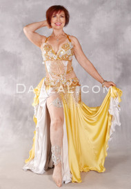 SAMIA Egyptian Bra and Belt Set - Gold and Silver