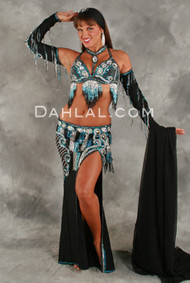 CONTEMPORARY CASCADE by Oriental Originals, Turkish Belly Dance Costume, Available for Custom Order