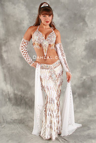 WHITE ICE by Oriental Originals, Turkish Belly Dance Costume, Available for Custom Order