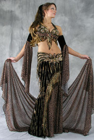 FLIRTY FELINE by Oriental Originals, Turkish Belly Dance Costume, Available for Custom Order
