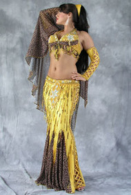 SUNSHINE SAFARI by Oriental Originals, Turkish Belly Dance Costume, Available for Custom Order