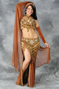 CARAMEL CLASSIC by Oriental Originals, Turkish Belly Dance Costume, Available for Custom Order