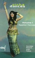 Aisha Dances Volume 1 - Egyptian Dances, Belly Dance DVD image