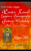 Egyptian Choreography 2008 Friday Workshop Dallas, Belly Dance DVD image