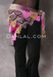Floral Fuchsia, Yellow, Multi-color with Plum, Gold and Pink Beads