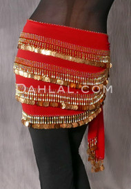 Red with Gold Coins