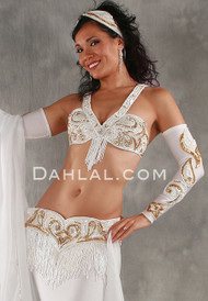 ENCHANTMENT Bra and Belt Set by Pharaonics of Egypt, Egyptian Belly Dance Costume, Available for Custom Order