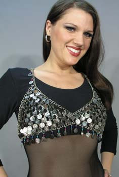 COIN MESH BRA, from Egypt, for Belly Dance image
