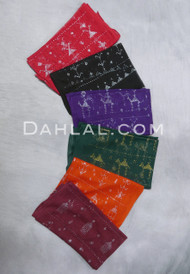 multi-colored assuit fabric pieces