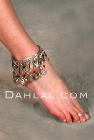 Beaded Egyptian Coin Bangles