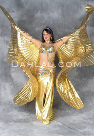 Wings of Isis in Lamé- Gold and Silver
