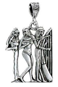 Three Dancing Musicians Vermeil Pendant