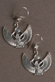 Isis Kneeling Sterling Silver Earrings