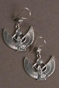 Isis Kneeling Sterling Silver Earrings