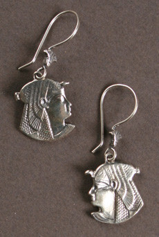 Cleopatra Sterling Silver Earrings