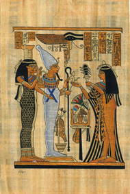 OFFERING TO OSIRIS & ISIS Papyrus