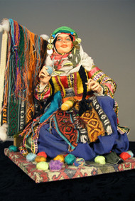 Carpet Weaver Doll with Loom