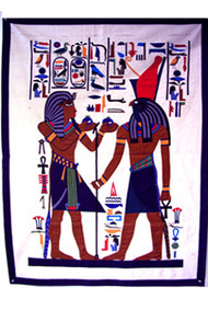 Pharonic Applique Artwork: Ramses II and Horus